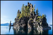 Phantom Ship Island. Crater Lake National Park ( color)