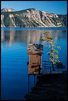 Water Level recording gauge tower, Cleetwood Cove. Crater Lake National Park ( color)