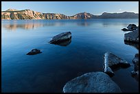 Lakeshore in late afternoon, Cleetwood Cove. Crater Lake National Park ( color)