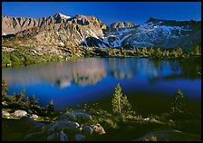 Woods Lake, late afternoon. Kings Canyon  National Park ( color)