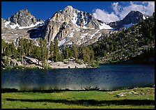 Rae Lake and Painted Lady. Kings Canyon National Park ( color)
