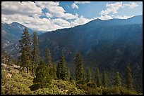Cedar Grove valley seen from North Rim. Kings Canyon National Park ( color)