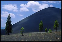 Cinder cone. Lassen Volcanic National Park, California, USA. (color)
