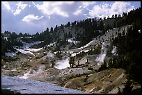 Bumpass Hell thermal area. Lassen Volcanic National Park, California, USA. (color)