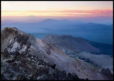 Summit of Lassen Peak at dusk. Lassen Volcanic National Park ( color)