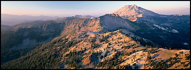 Chain of dormant volcanoes. Lassen Volcanic National Park (Panoramic color)