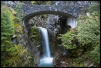 Stone Bridge and Christine Falls. Mount Rainier National Park ( color)