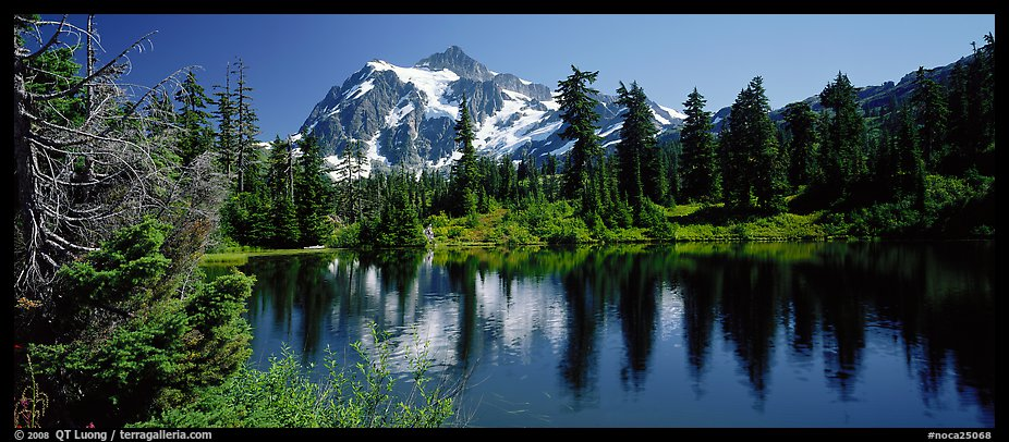 Mount Shuksan,  North Cascades National Park.  (color)