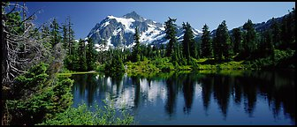 Mount Shuksan,  North Cascades National Park.  (Panoramic color)