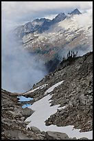 Alpine scenery in unsettled weather, North Cascades National Park.  ( color)