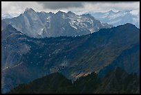 Distant ridges in storm light, North Cascades National Park.  ( color)