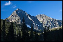 Greybeard Peak, morning, North Cascades National Park.  ( color)