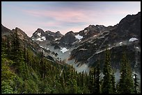 Fisher Creek cirque at sunset, North Cascades National Park. Washington, USA.