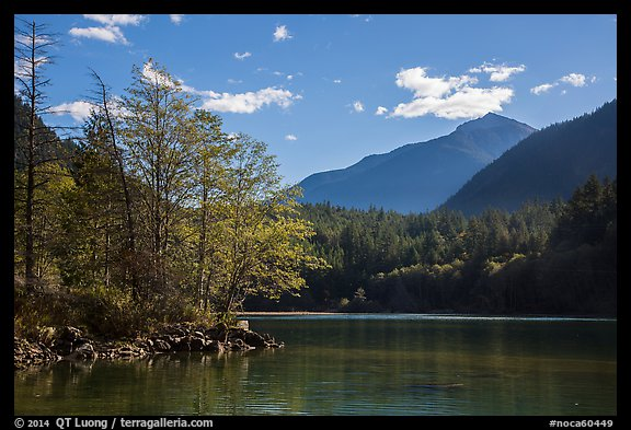 Gorge Lake, North Cascades National Park Service Complex.  (color)
