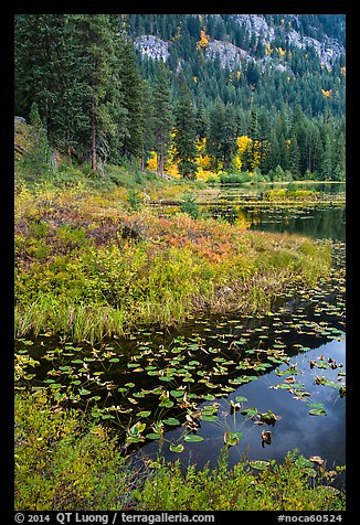 Coon Lake in autumn, Stehekin, North Cascades National Park Service Complex.  (color)