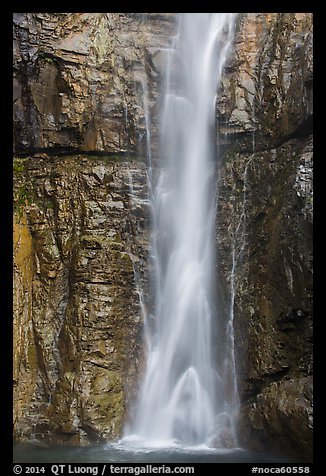 Base of Upper Rainbow Falls, Stehekin, North Cascades National Park Service Complex.  (color)