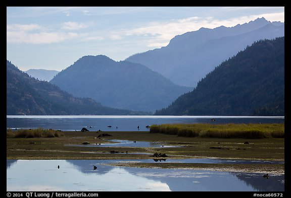 Pond and Lake Chelan, Stehekin, North Cascades National Park Service Complex.  (color)