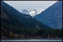 Snowy peaks above Stehekin and Lake Chelan,  North Cascades National Park Service Complex. Washington, USA.