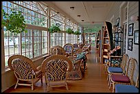 Sun room, Crescent Lake Lodge. Olympic National Park, Washington, USA. (color)