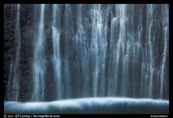Ethereal waters, base of Marymere Fall. Olympic National Park (color)