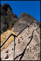High Peaks trails with stairs carved in stone. Pinnacles National Park ( color)