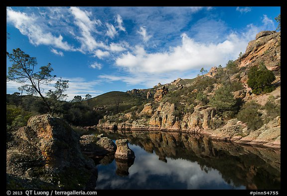 Clouds over Bear Gulch Reservoir. Pinnacles National Park (color)