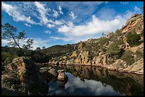 Clouds over Bear Gulch Reservoir. Pinnacles National Park ( color)