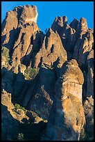 High Peaks towers, late afternoon. Pinnacles National Park ( color)