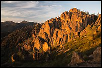 High Peaks at sunrise. Pinnacles National Park ( color)