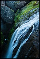 Bear Gulch Reservoir waterfall. Pinnacles National Park ( color)
