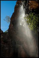 Moses Spring waterfall (slow). Pinnacles National Park ( color)