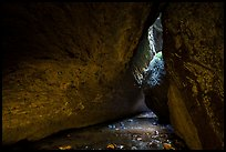 Stream in cave. Pinnacles National Park ( color)