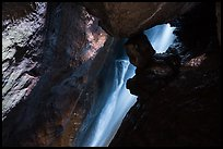 Waterfall in cave. Pinnacles National Park ( color)