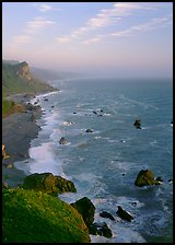 Coast from High Bluff overlook, sunset. Redwood National Park ( color)