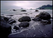 Sand, boulders and surf, Hidden Beach. Redwood National Park ( color)