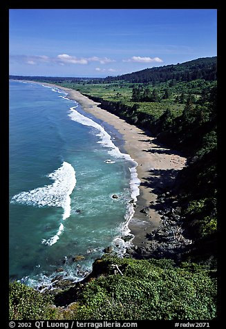 Crescent Beach from above. Redwood National Park, California, USA.