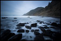 Rocks, surf in long exposure, Enderts Beach. Redwood National Park ( color)