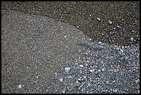 Close-up of sand and pebbles, Enderts Beach. Redwood National Park ( color)