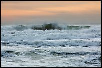 Breaking waves, Enderts Beach. Redwood National Park ( color)