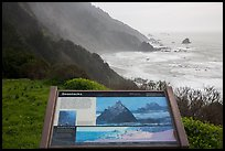 Enderts Beach, Seastacks interpretive sign. Redwood National Park ( color)