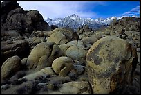 Alabama hills and Sierras, winter morning. Sequoia National Park, California, USA. (color)