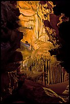 Subterranean passage with ornate cave formations, Crystal Cave. Sequoia National Park ( color)
