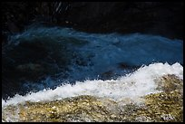 Water flowing over ledge, Marble Fall. Sequoia National Park ( color)