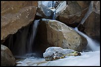 Boulders and cascades, Marble fork of Kaweah River. Sequoia National Park ( color)
