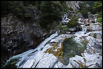 Marble fork of Kaweah River pools and cascades. Sequoia National Park ( color)