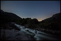 Kaweah River at night. Sequoia National Park ( color)