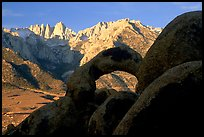 Boulders, Alabama Hills Arch I, Mt Whitney. Sequoia National Park, California, USA. (color)