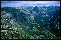 Yosemite Valley and Half-Dome from Eagle Peak. Yosemite National Park ( color)