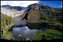 Ellery Lake in summer. California, USA ( color)