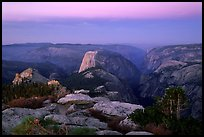 View of Yosemite Valley from Clouds Rest at dawn. Yosemite National Park, California, USA. (color)